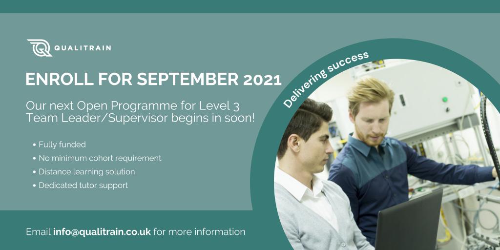 Team Leader Supervisor Apprenticeship September
